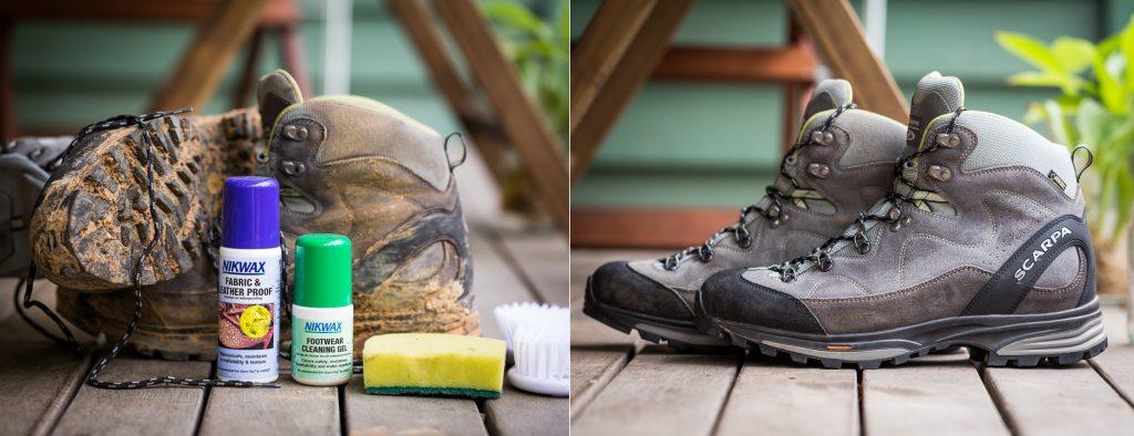 تمیز کردن کفش کوهنوردی
