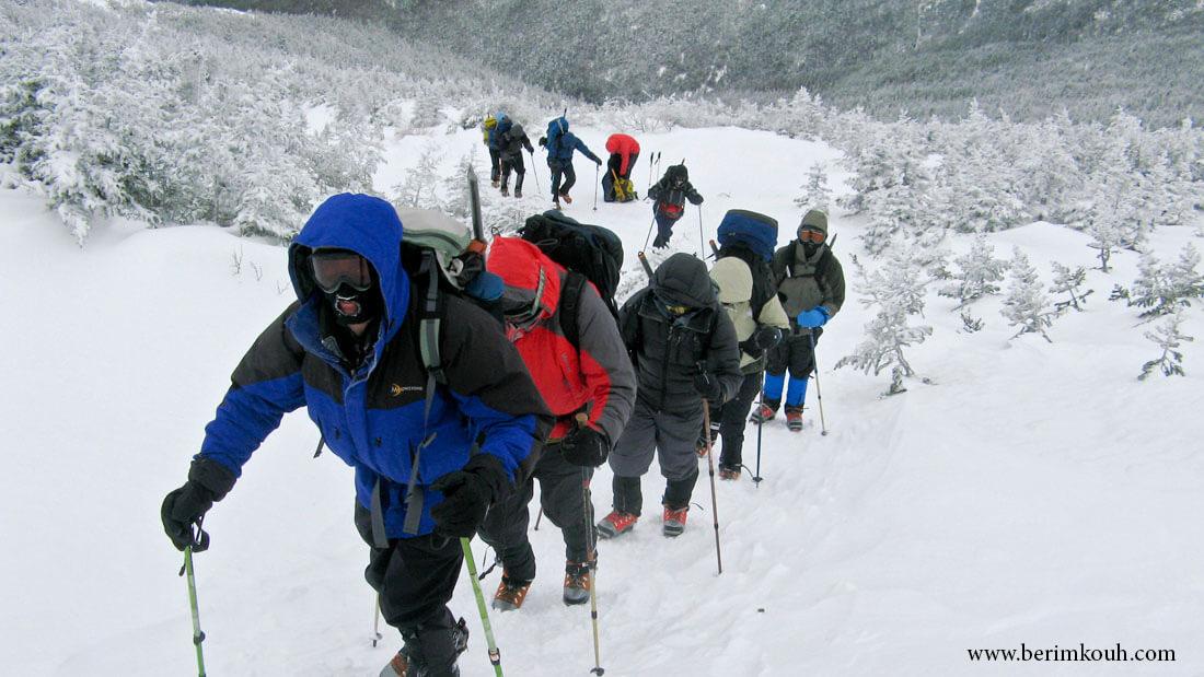 گام برداری در برف