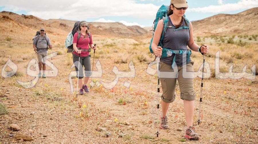 استفاده ی صحیح از عصاهای کوهنوردی