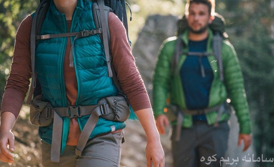 تنظیم کوله پشتی در مسیر کوهنوردی