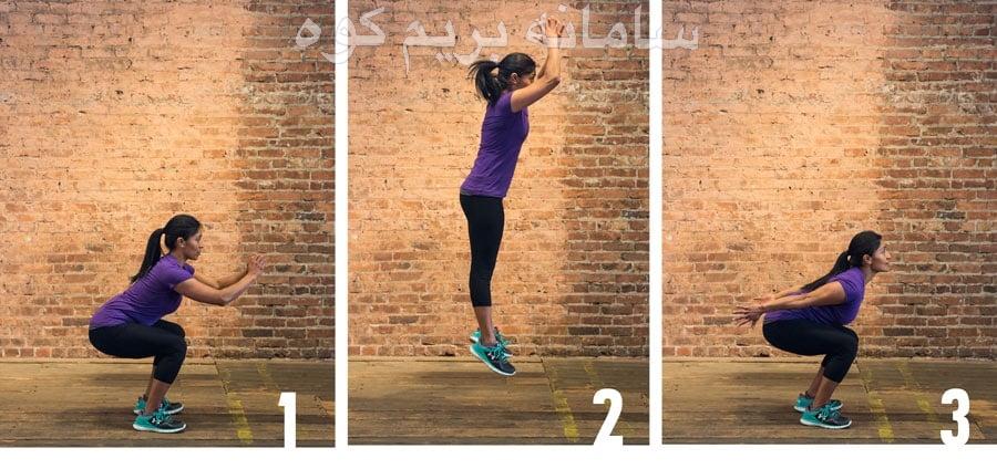 حرکت Jump squats