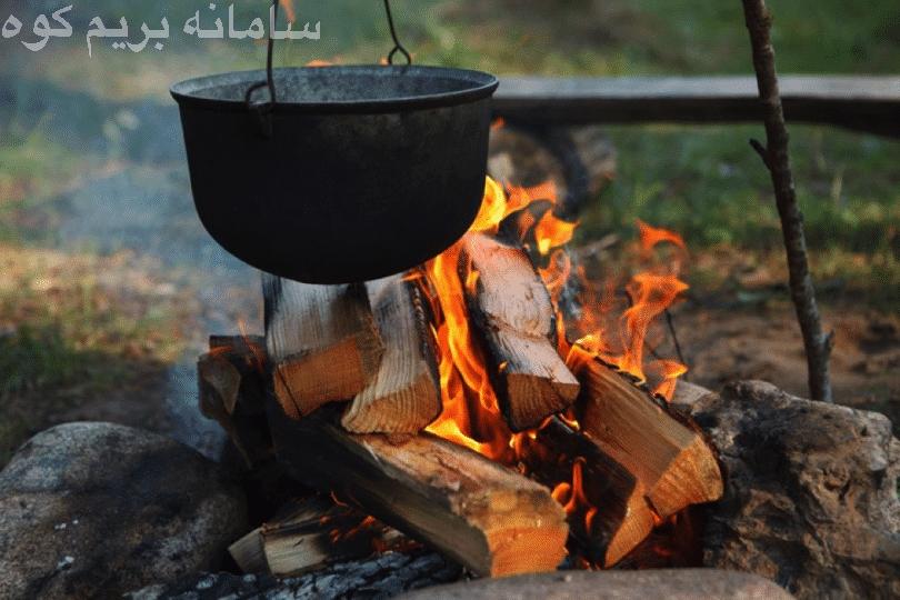 در چادر خود، به هیچ وجه آشپزی نکنید.