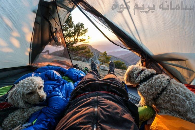 یک تکه فوم نرم وراحت می تواند یک تخت خواب عالی برای سگتان در کوهستان باشد .