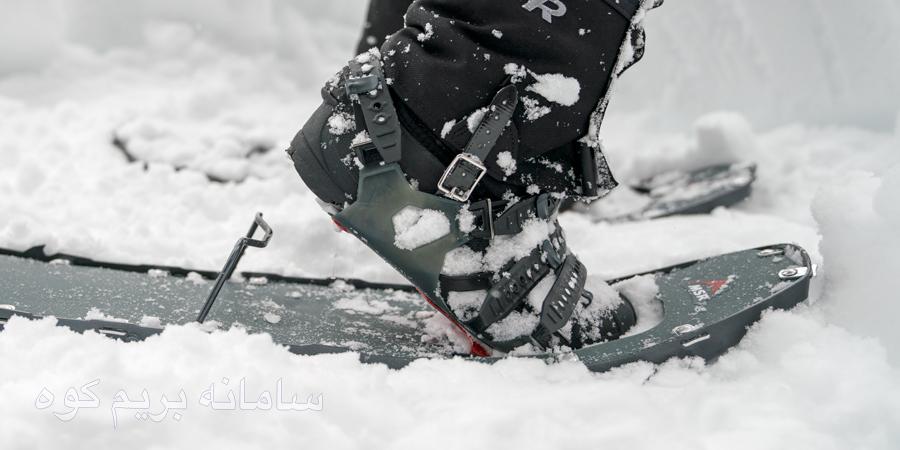 چگونه در سراشیبی برفی پیاده روی کنید