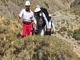 نجات فرد سقوط کرده از ارتفاع آبشار پیرمیشی شاهرود
